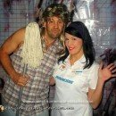 Homemade Flo the Progressive Lady and Joe Dirt Couple Costume