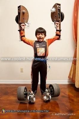 Homemade Formula One Transfomer Costume