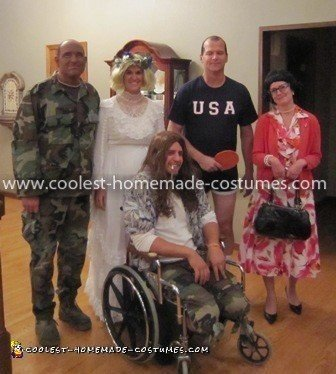 Homemade Forrest Gump Crew Costume