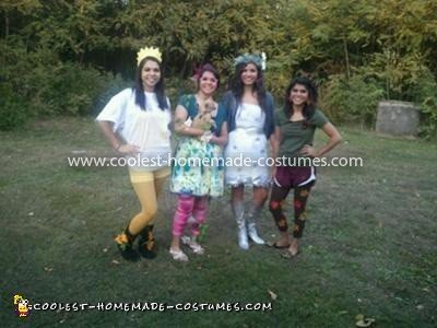 Homemade Four Seasons Group Costume