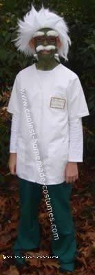 Homemade Frank Einstein Costume