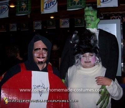 Homemade Frankenstein and Bride of Frankenstein Costume