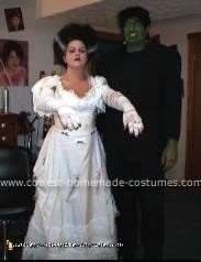 Homemade Frankenstein and Bride of Frankenstein Costumes