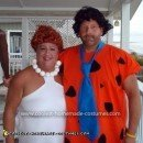 Homemade Fred and Wilma Flintstone Costume