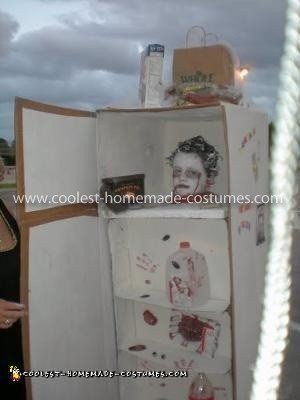Homemade Freezer Head Costume