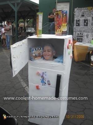 Homemade Freezer Head Costume