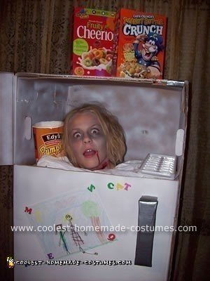 Frozen Head in Fridge Costume