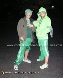 Homemade Gangrene (AKA Gang Green) Costumes