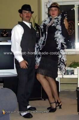 Homemade 30's Gangster and his Dame Costumes