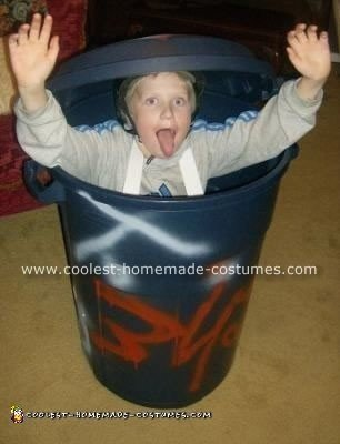 Homemade Garbage Can Boy Costume