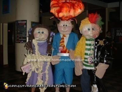 Homemade Garbage Pail Kids Costumes