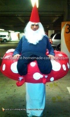 Coolest Garden Gnome On a Mushroom Costume 7
