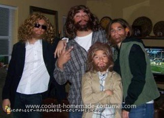 Homemade Geico Cave Family Group Costume