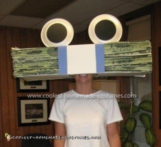 Homemade GEICO Money Eyes Costume
