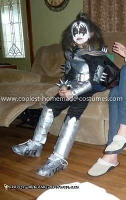 Homemade Gene Simmons Child Costume