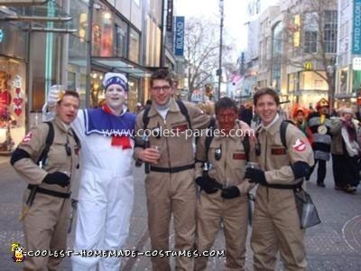 Homemade Ghostbusters Group Costume