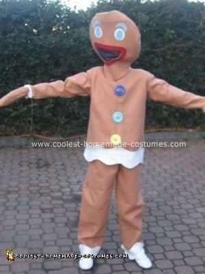 Homemade Gingerbread Man Costume