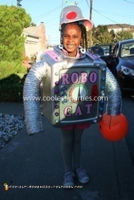 Homemade Girl Robot Costume