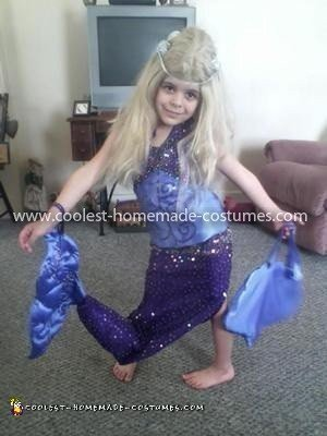 Homemade Girl's Mermaid Costume