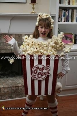 Coolest Girl's Popcorn Costume