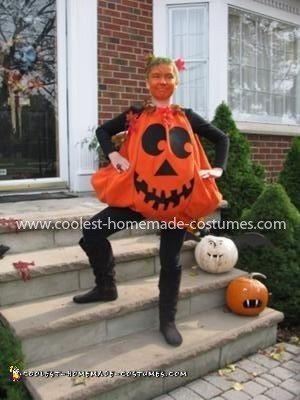 Homemade Girl's Pumpkin Costume