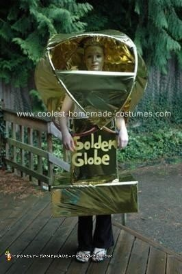 Homemade Golden Globe Award Costume