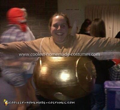 Homemade Golden Snitch Costume