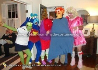 Muppet Babies gang: Kermit the Frog, Baby Gonzo, the headless Nanny, Baby Beaker, and Baby Miss Piggy (see why that was inspiring??)