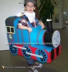 Homemade Gordon the Tank Engine Costume