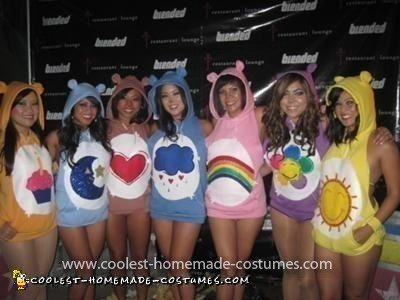 Homemade GROOVAHOLIX Care Bear Group Costume