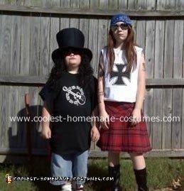 Homemade Slash and Axl Costumes