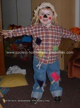 Homemade Halloween Scarecrow Costume 12