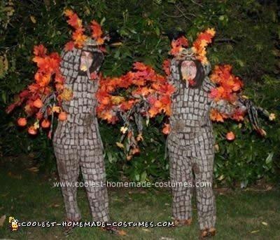Homemade Halloween Tree Couple Costume