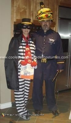 Homemade Hamburglar and Officer Big Mac Costumes