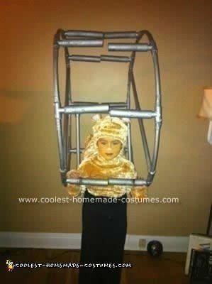 Homemade Hamster on a Wheel Costume