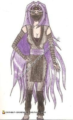 The Initial Drawing of my Costume Design. A Few Things Were Changed Due to the Cold Weather