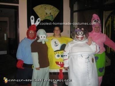 Handmade SpongeBob and Bikini Bottom Pals Costumes