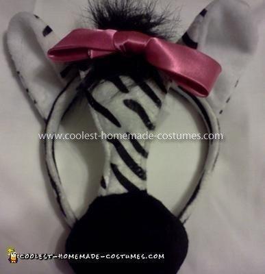Homemade Handmade Zebra Costume