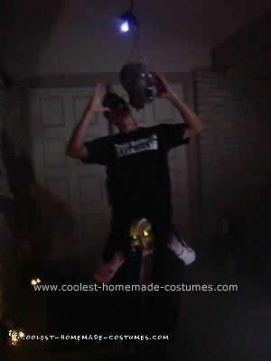 Homemade Hanging with Saw Illusion Costume