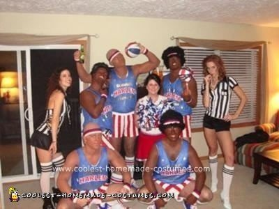 Homemade Harlem Globetrotters Halloween Group Costume