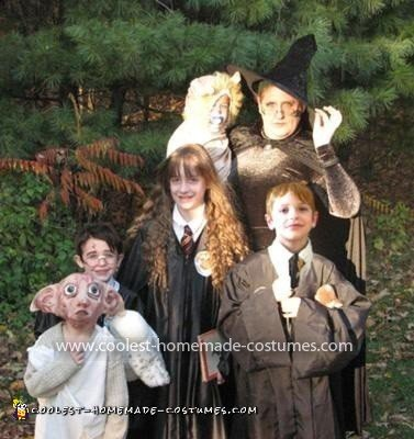 Homemade Harry Potter Family Costume