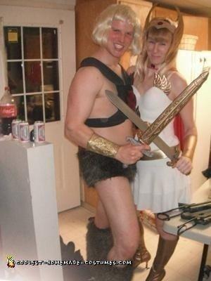 Homemade He Man and She-Ra Couple Costume
