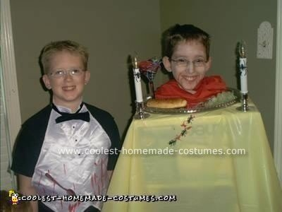 Dinner is Served - Head on Platter and Waiter Costume