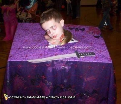 Head on Platter Homemade Halloween Costume 20
