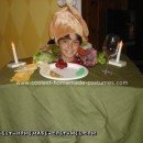 Homemade Head on Turkey Dinner Platter Halloween Costume