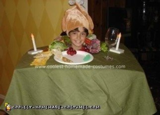 Homemade Head on Turkey Dinner Platter Halloween Costume