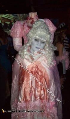 Homemade  Headless Marie Antoinette Costume