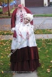 Homemade Headless Marie Antoinette Unique Halloween Costume Idea