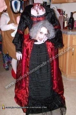 Homemade Headless Vampire Costume