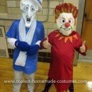 Homemade Heat Miser and Snow Miser Costumes